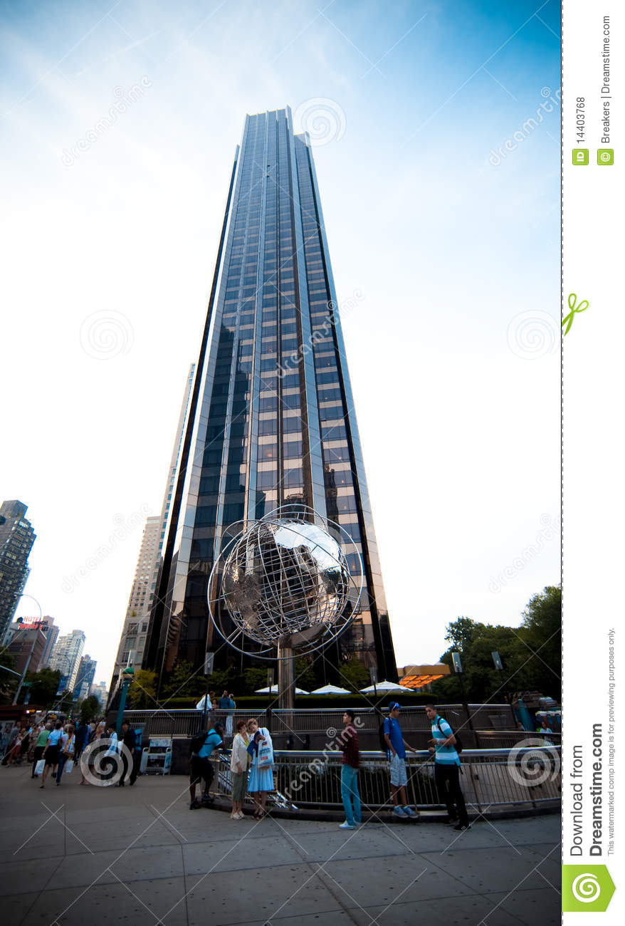 The Trump International Hotel And Tower Editorial Stock Photo.