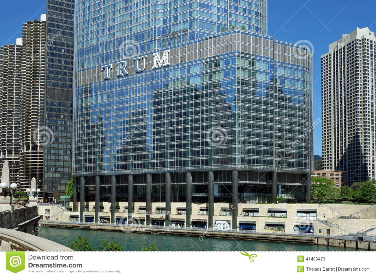 Trump International Hotel And Tower Editorial Stock Photo.