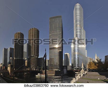 "Stock Photography of ""Marina City, IBM Building and Trump."