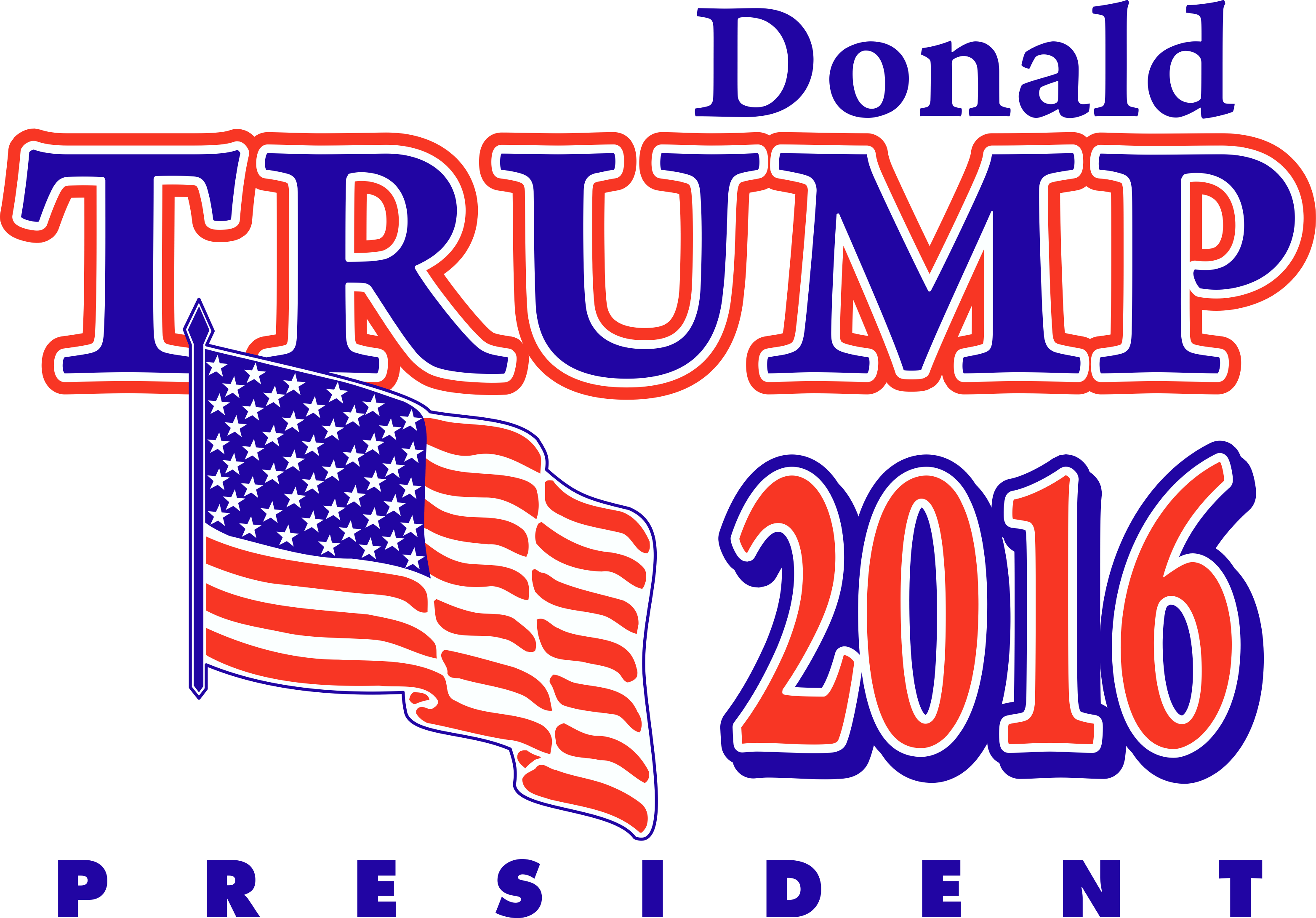 Donald Trump President Logo transparent PNG.
