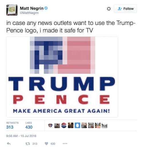 Trump pence Logos.