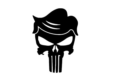 TRUMP PUNISHER VINYL Decal.