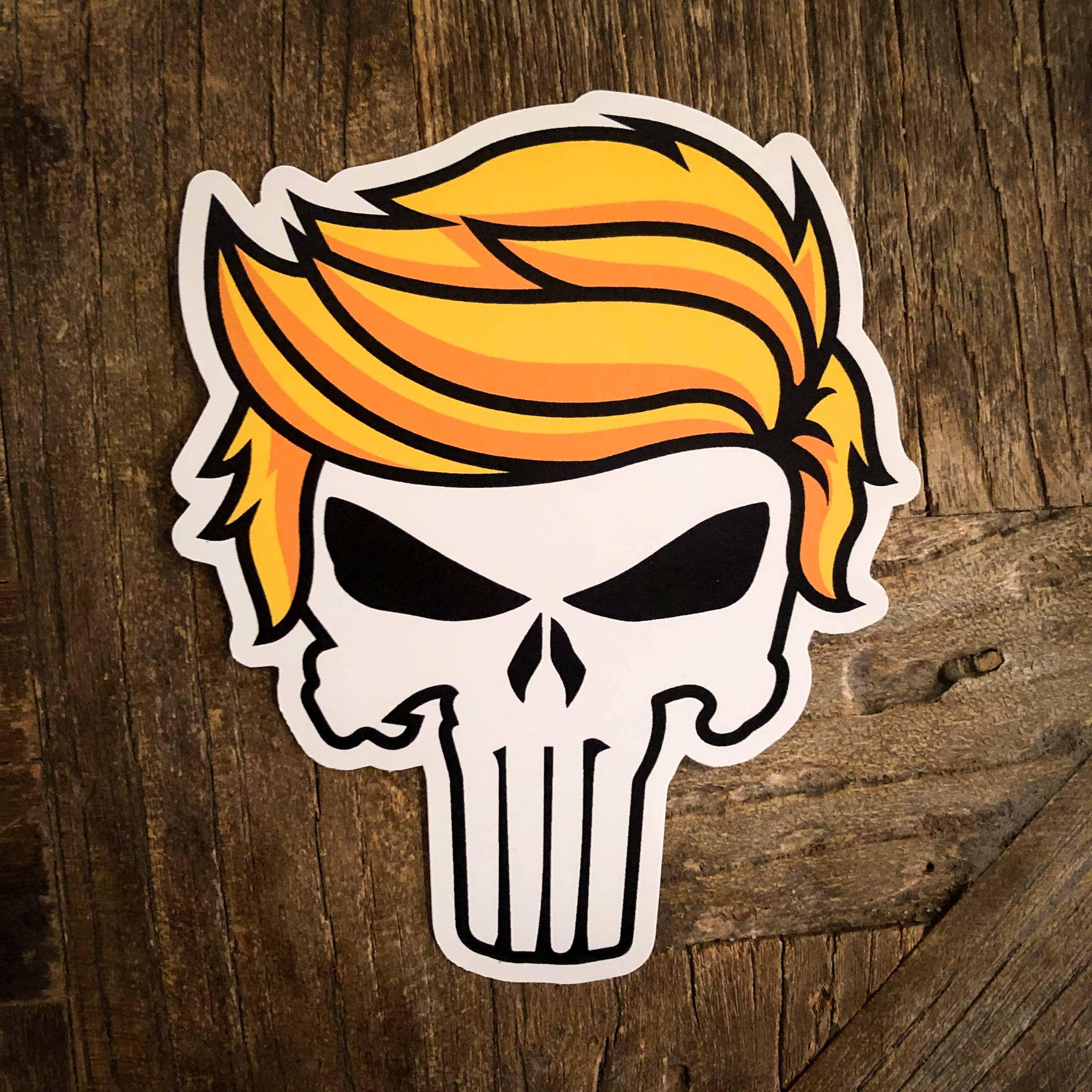 Trump Punisher Vinyl Sticker.