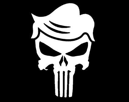 Amazon.com: CarTats Donald Trump Punisher Skull 2020 Re.