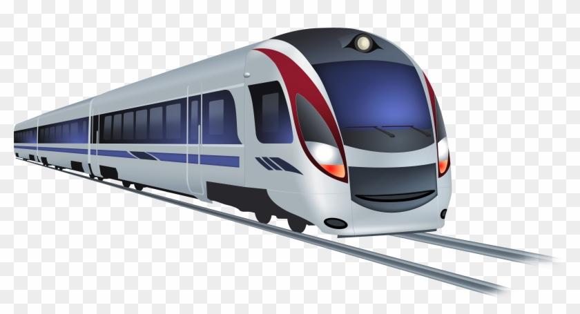 Modern Train Png Clip Art.