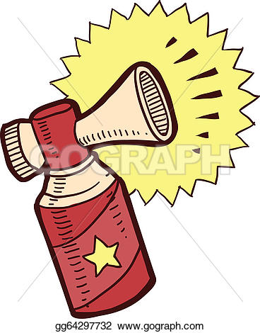 Trumpet air horn clipart #3