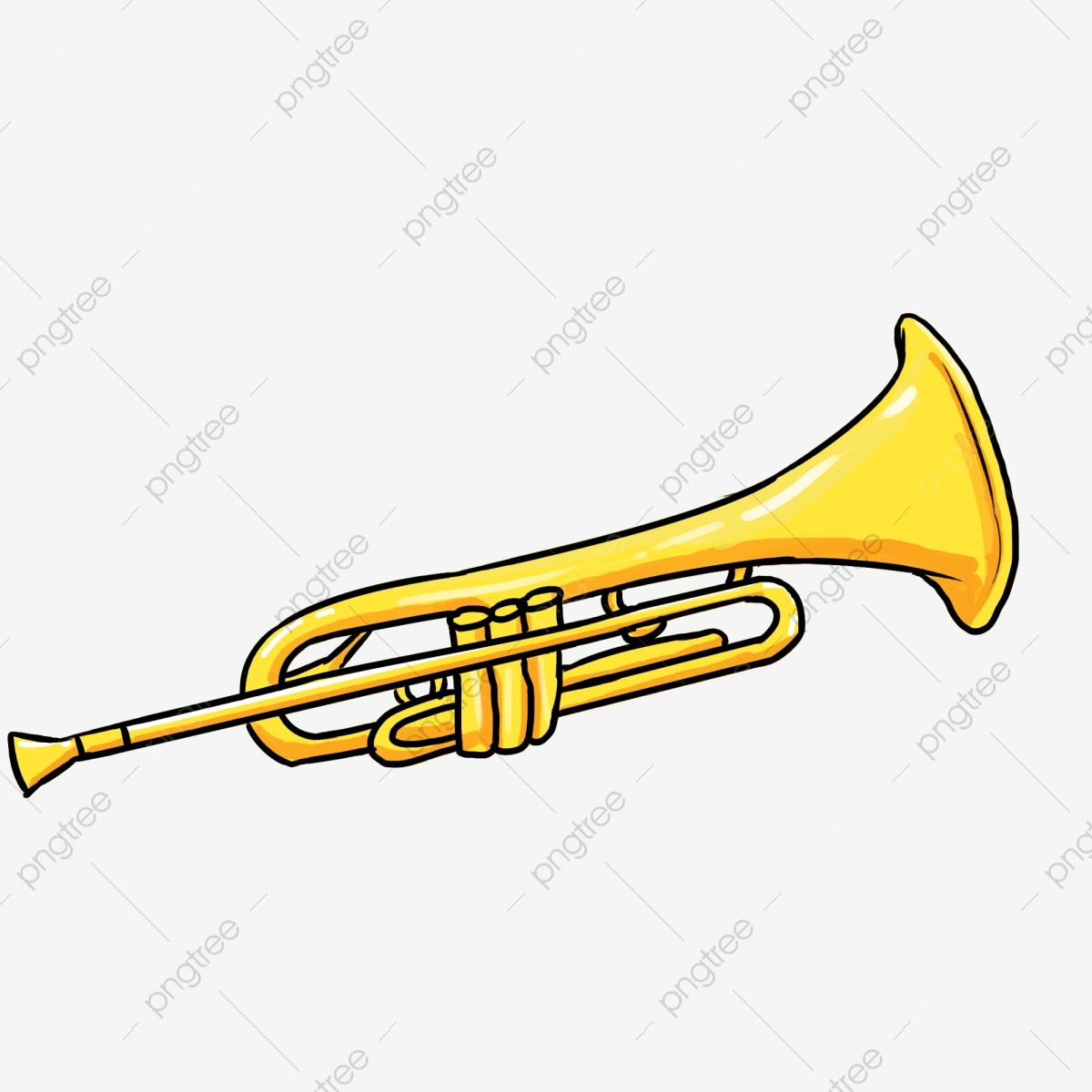 Trumpet Trumpet, Trumpet Clipart, Golden Horn PNG.
