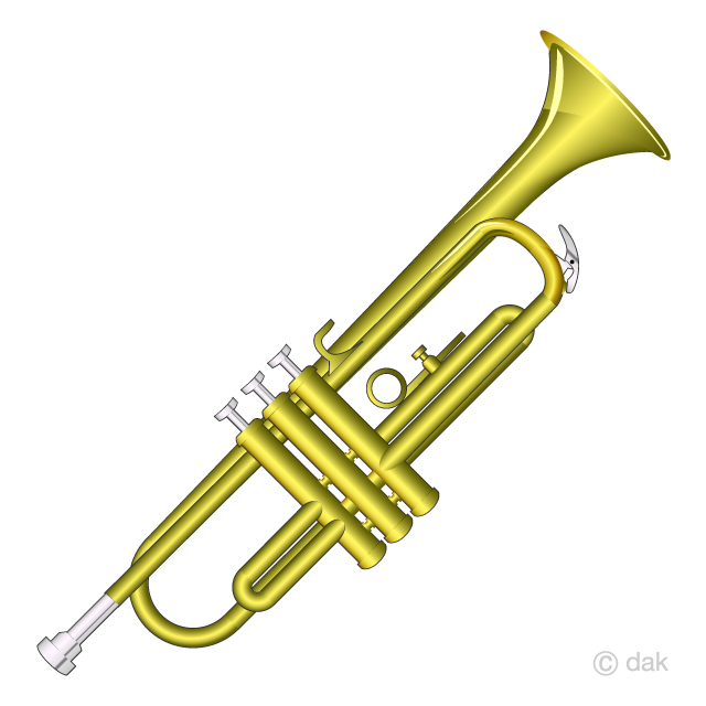 Trumpet Clipart Free Picture|Illustoon.