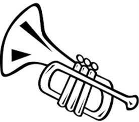 Trumpet Clipart Black And White (95+ images in Collection.