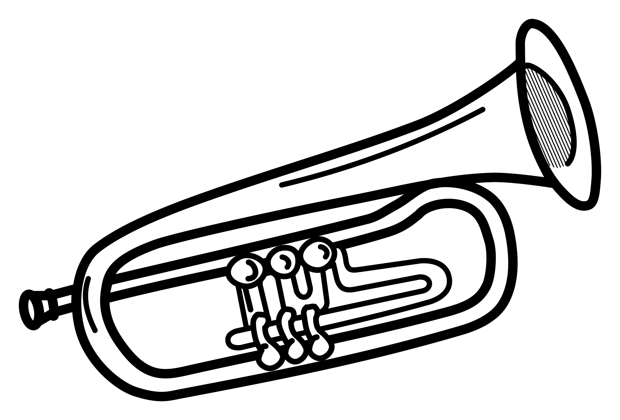 Trumpet clip art free clipart images 6.