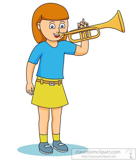 Similiar Girl Playing Trumpet Clip Art Keywords.