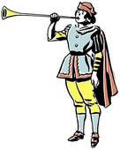 Clip Art of Court Trumpeter Illustration k7367087.