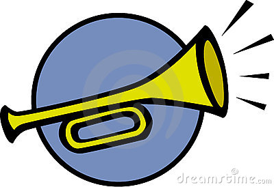 Trumpet Sounding Clipart.
