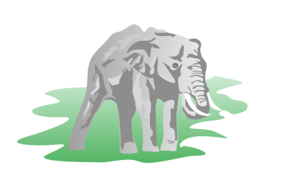 Free Trumpeting Elephant Clipart.