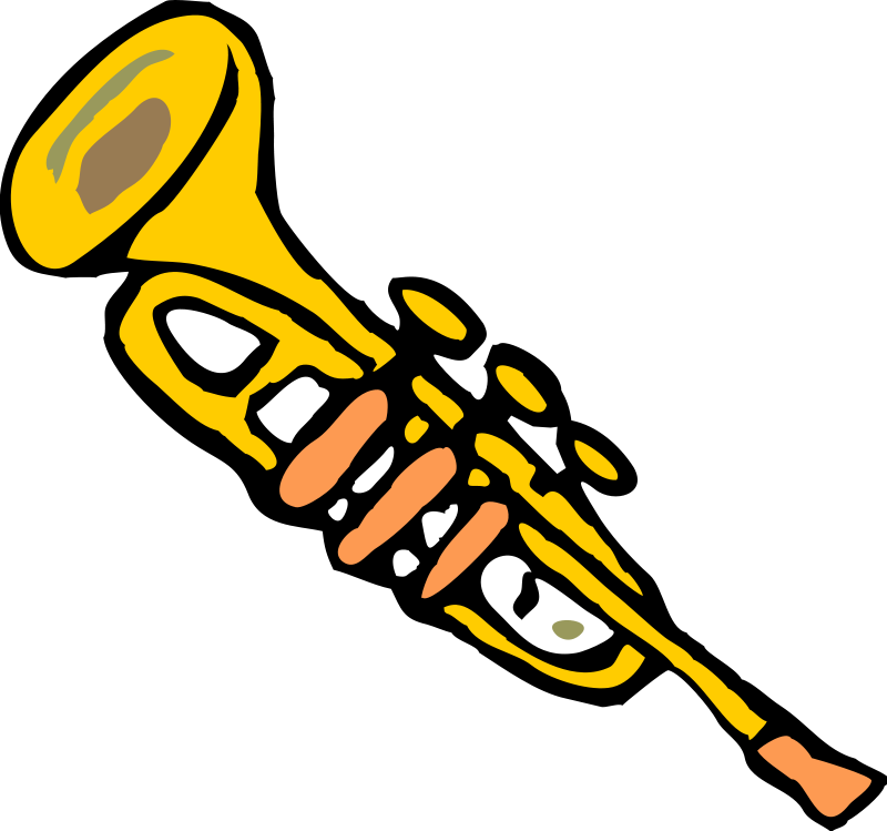 Trumpet Music Clipart Pictures Royalty Free.
