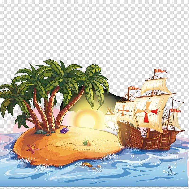 Treasure Island Hotel and Casino Cartoon Piracy Illustration.