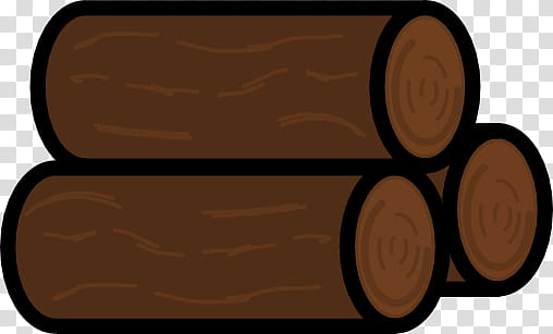 Pile of wood logs transparent background PNG clipart.