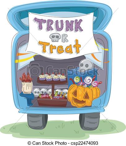 Trunk Or Treat Car Clipart.
