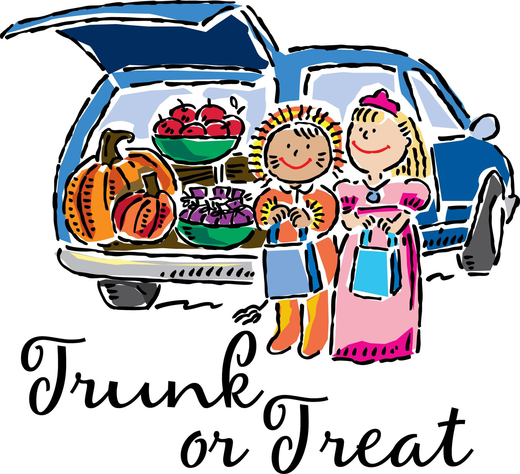 Trunk Or Treat Car Clipart.