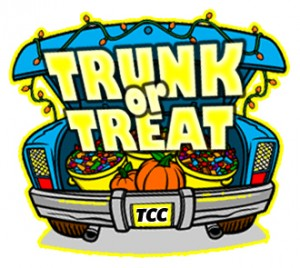 Trunk or treat event for little monsters to take place in.