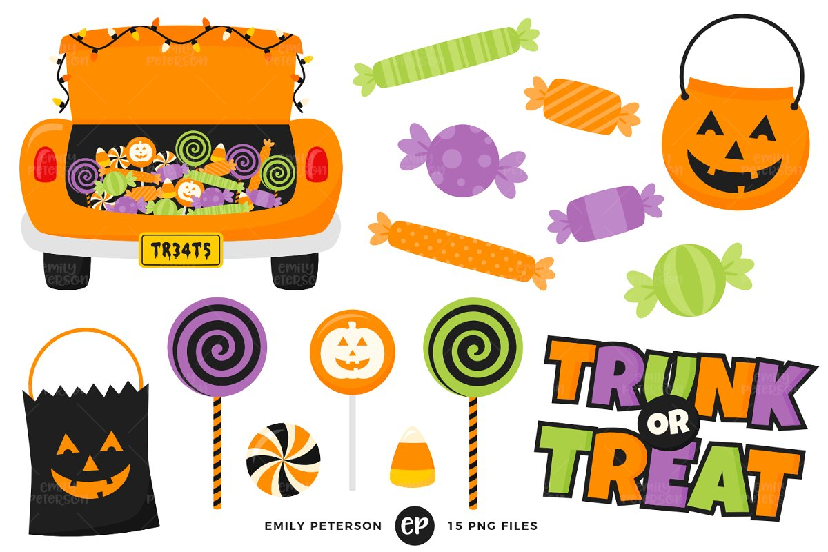 Trunk or Treat Clipart.