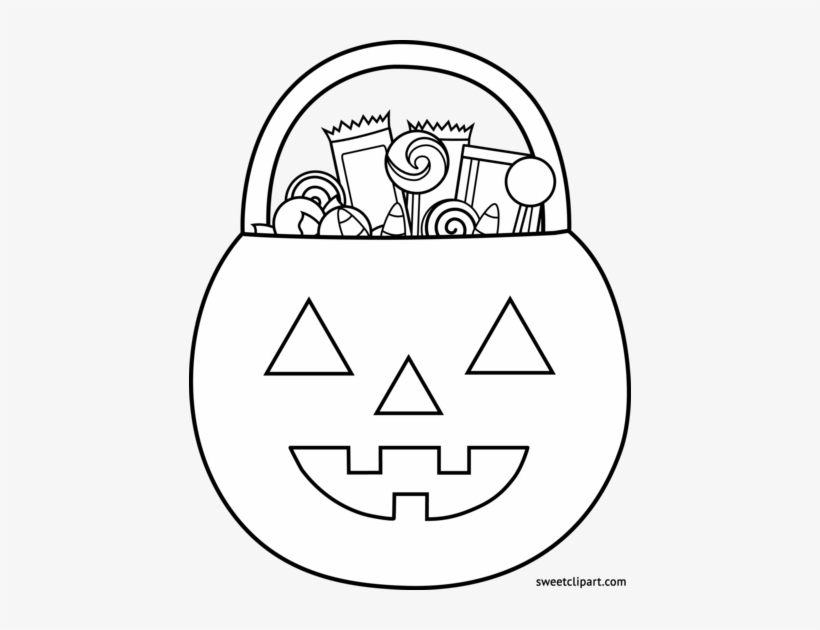 Clipart Library Library Trick Or Treat Coloring.