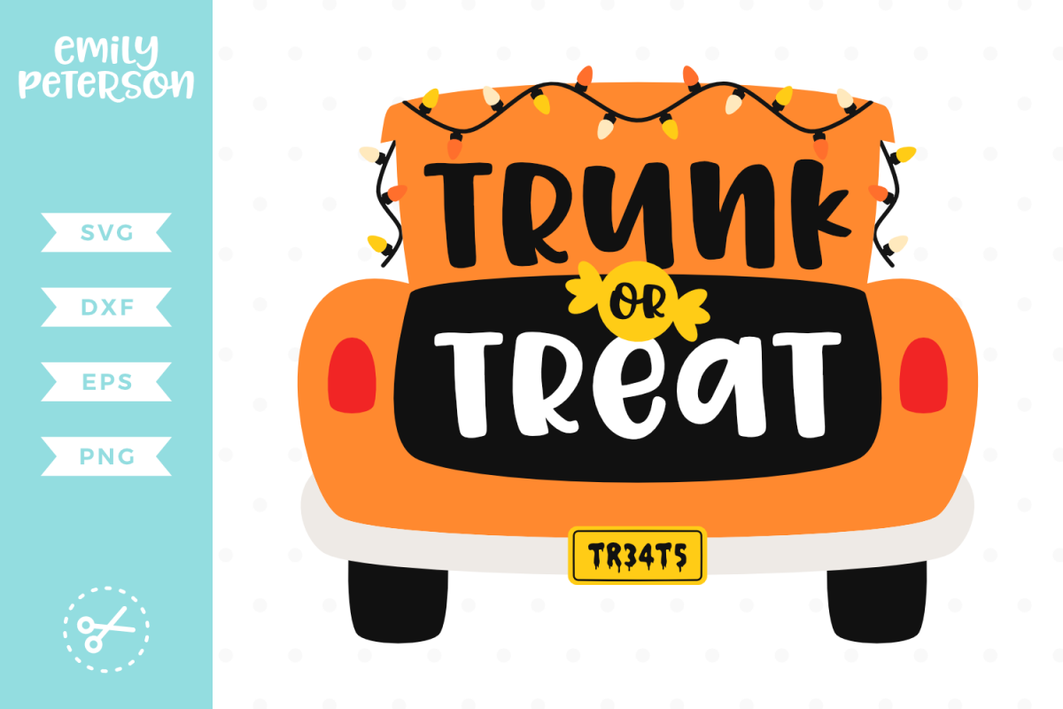 Trunk or Treat SVG DXF EPS PNG.