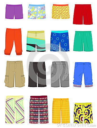 Swim Shorts Clipart.