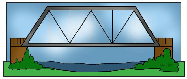 Free Architecture Clip Art by Phillip Martin, Truss Bridge.