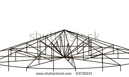 3d Truss Structure Building Background Stock Vector 63730231.