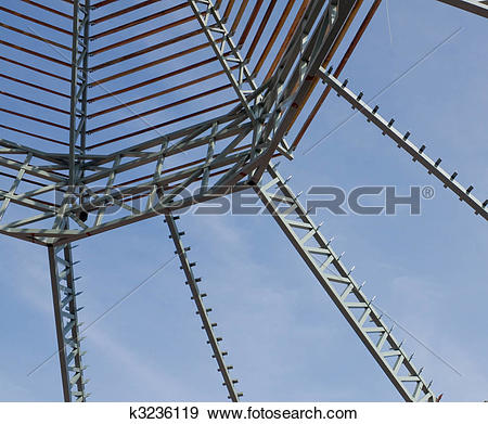 Stock Photograph of Roof Trusses k3236119.