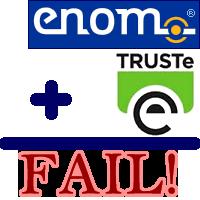 GWD Drops Enom and TRUSTe.