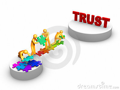 Clipart about trust.
