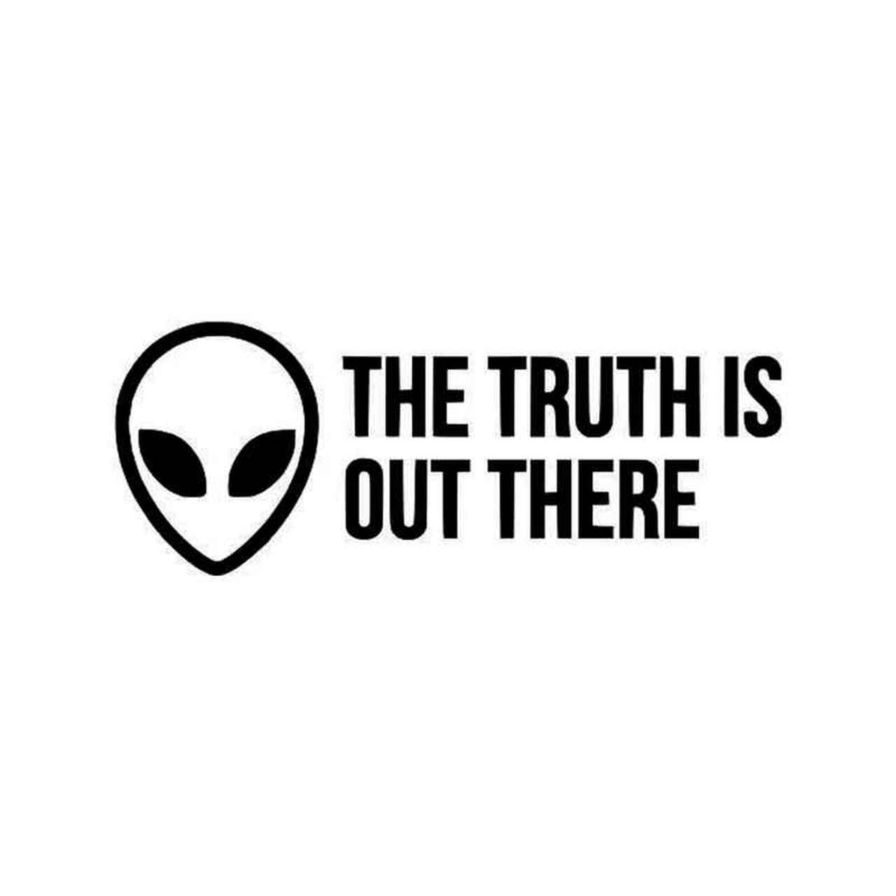 X Files The Truth Is Out There Vinyl Sticker.