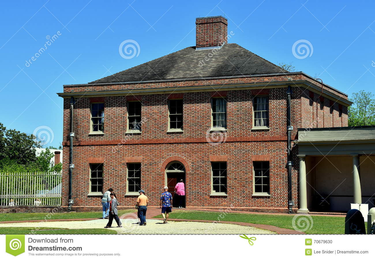 Tryon Palace In New Bern, North Carolina Stock Photo.