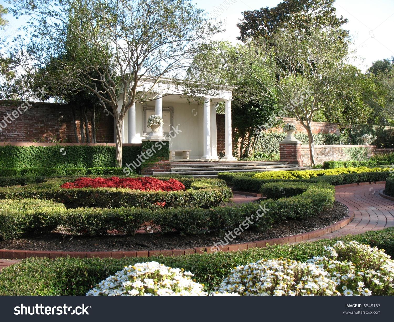 Tryon Palace Gardens In Historic New Bern, North Carolina Stock.