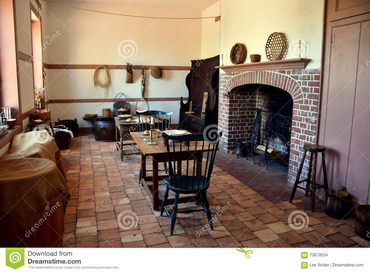 New Bern, NC: Kitchen Wing At 1770 Tryon Palace Editorial Stock.