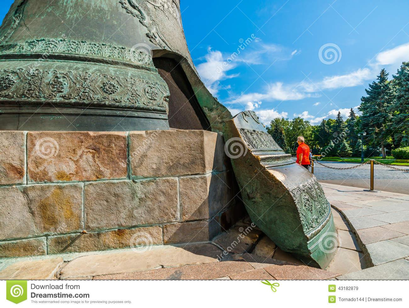 Tsar Bell And Ivanovskaya Square Of Moscow Kremlin Editorial Stock.