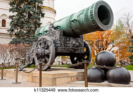 Stock Photograph of Tsar Cannon in Moscow Kremlin k11325449.