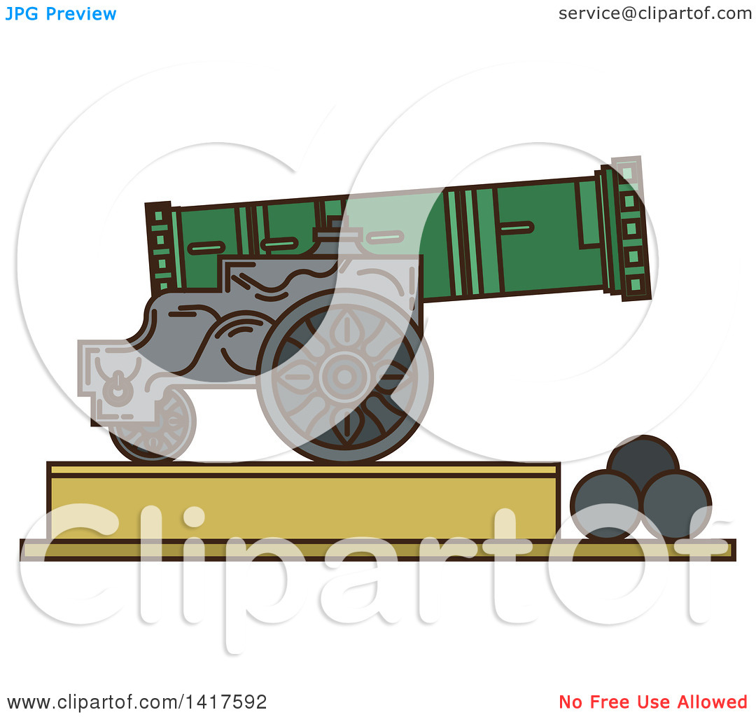 Clipart of a Sketched Landmark, Tsar Cannon.