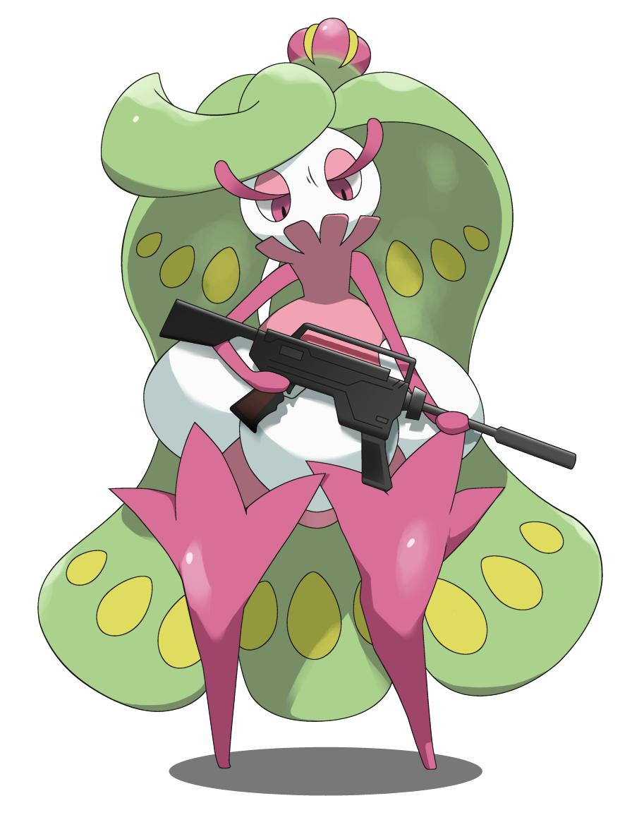 Tsareena with a gun.