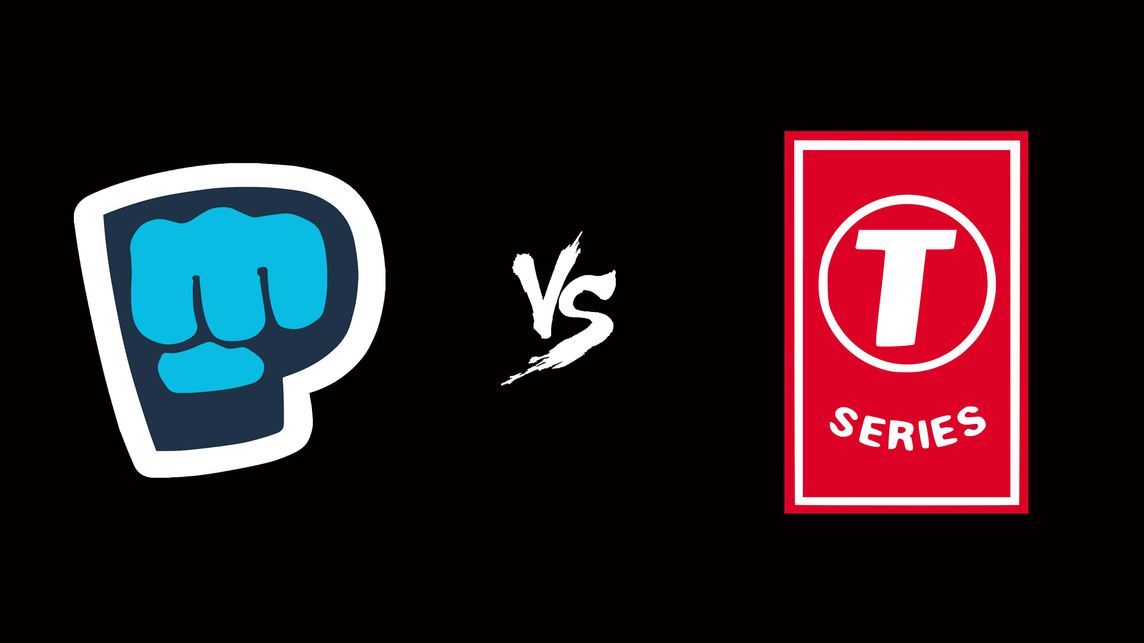 PewDiePie Logo Vs T.