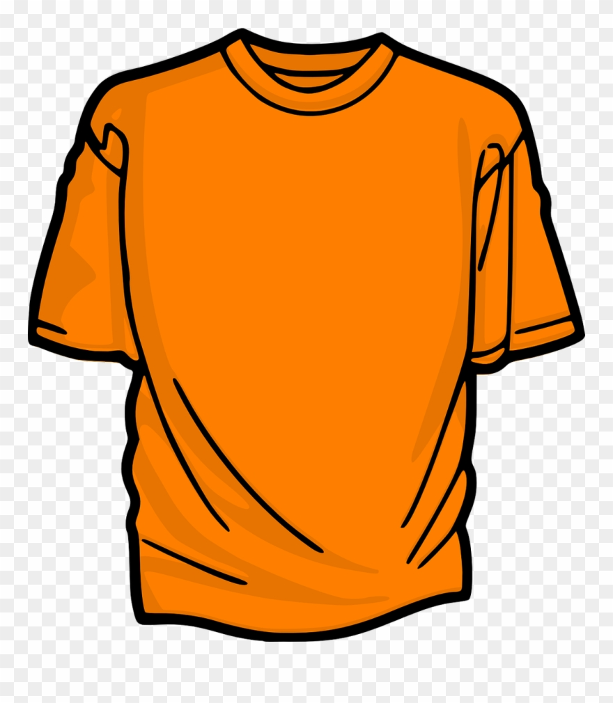 Orange Shirt Clipart.