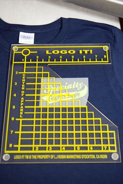 Logo It! Left Chest Alignment Tool.