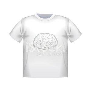 Vector T Shirt Mock UP With Geometric Brain premium clipart.