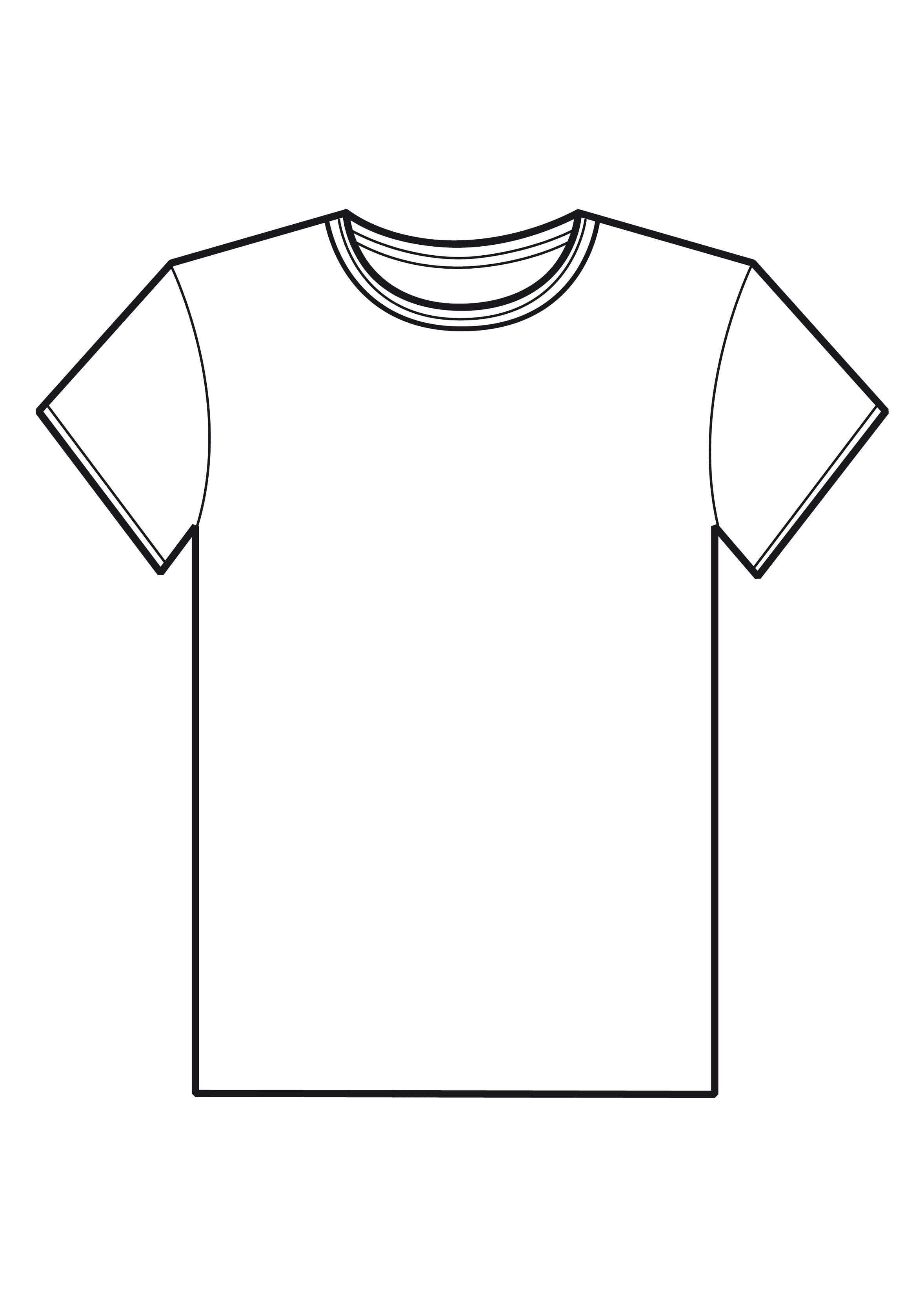 Tshirt outline clipart 3 » Clipart Station.