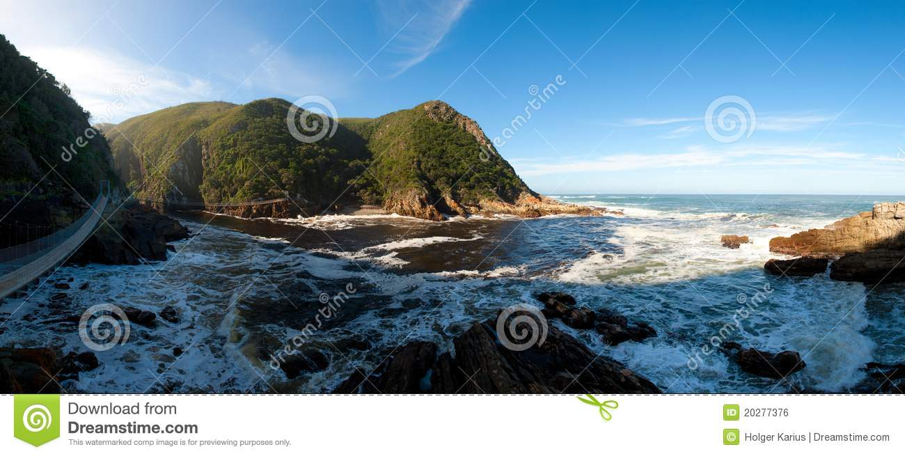 Storms River Mouth (Tsitsikamma National Park) Royalty Free Stock.