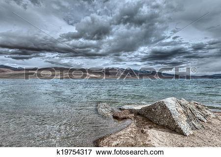 Picture of Lake Tso Moriri, Ladakh k19754317.