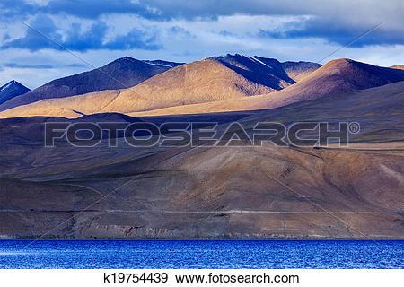 Stock Photograph of Tso Moriri, Ladakh k19754439.