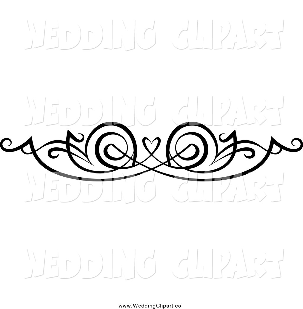 Black Swirl Border Clipart.